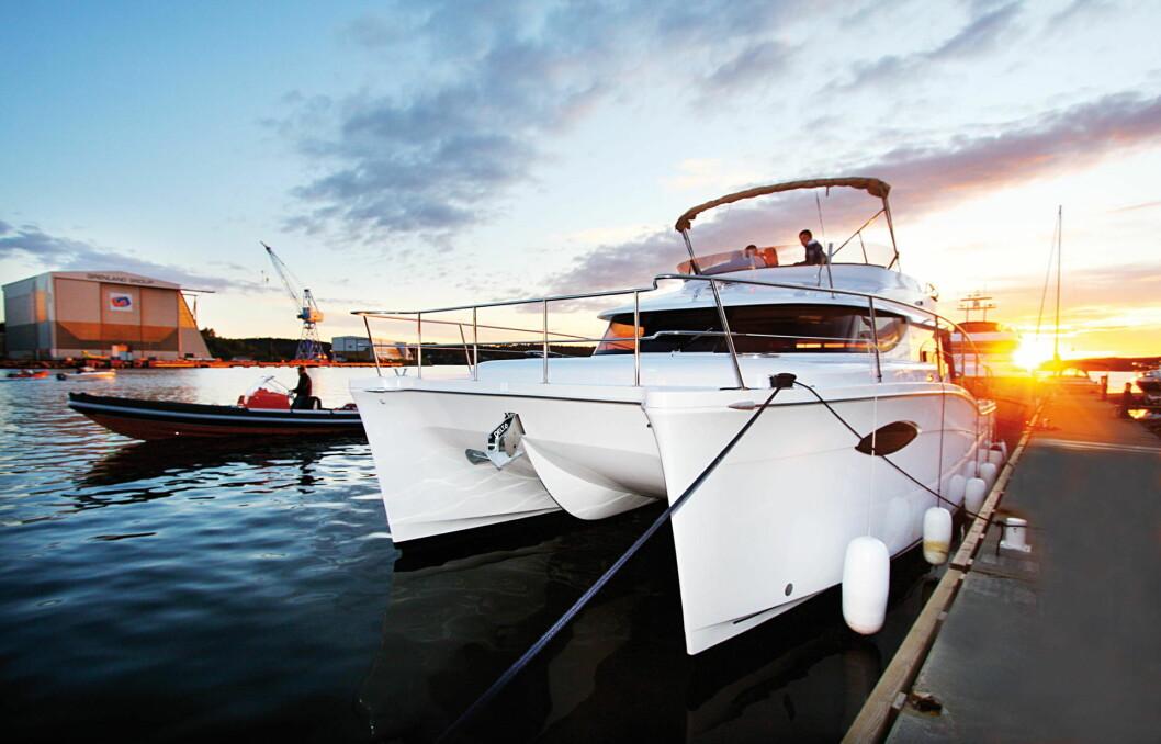 Tønsberg: Vi ruver godt i den nye gjestehavna i Tønsberg. Men med så stor båt ligger du helt greit på utsiden av bølgebryterne.