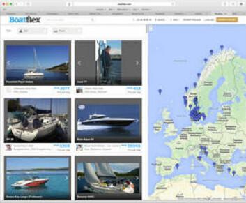 NETT: Tilbudet på Boatflex er ikke all verden, men det øker. Norge og Danmark ligger langt fremme. Boatflex har internasjonale ambisjoner.