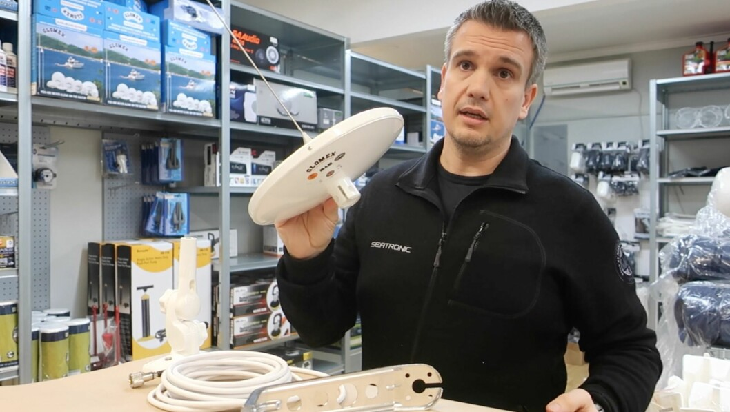 TV: Seatronic anbefaler en kombinert TV og DAB-antenne til båten.