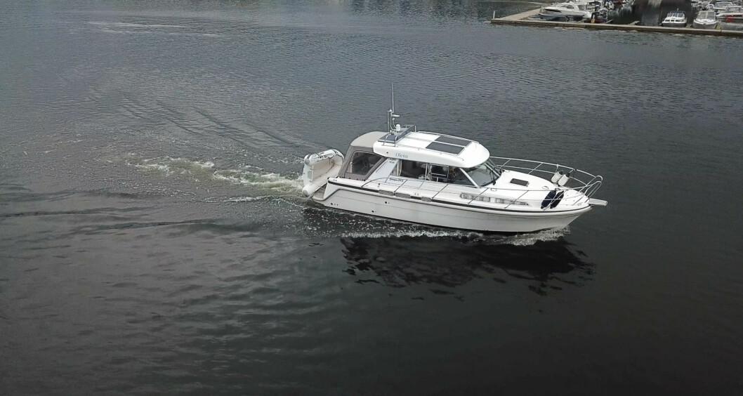 SAGA315: Litiumbatteriene gikk rett inn i den 31-fots store motorbåten.