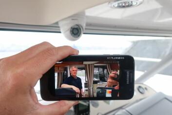 MOBIL: Med CamBoat får du levende bilder direkte fra båten til mobilen.