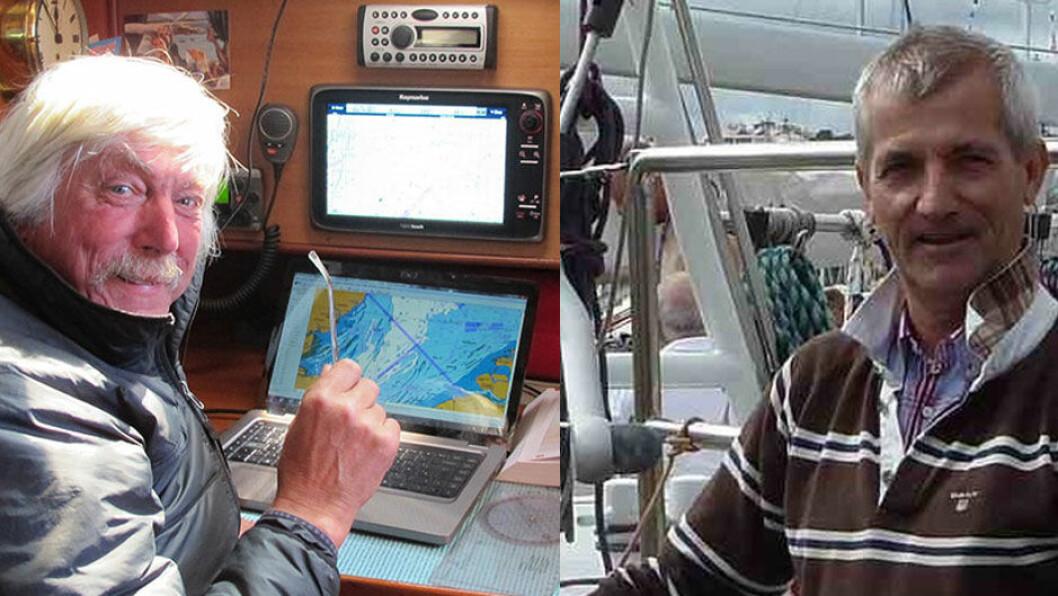 LANGTURSEILERE: Engelske Tom Dunliffe og tyske Peter Förthmann holder nyttige foredrag om langtur i Henån på svenskekysten i desember.