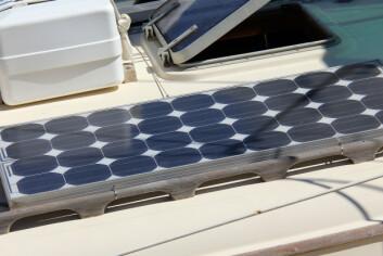 solar panel on the yacht