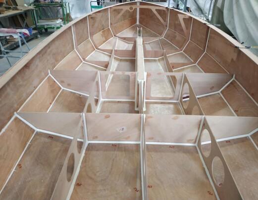 SKROG: Sarch bygges lett, sterkt og stivt med finér trukket med karbon og glassfiberamert epoxy.