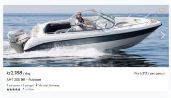 Denne kan du leie på Boatflex i sommer