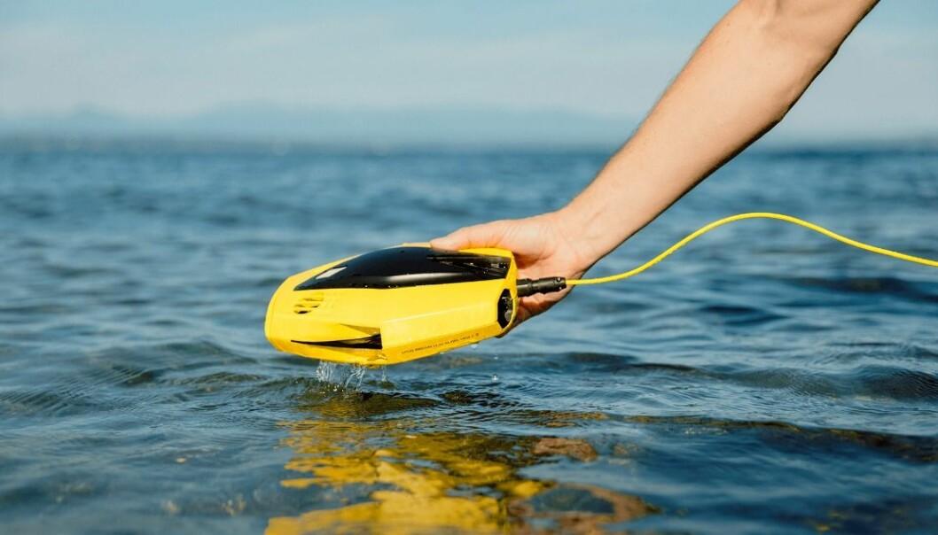 UNDERVANNSDRONE: Med Chasing Dory kan alle enkelt inspisere båten, bunnforholdene i havna, eller kanskje hjelper deg å finne klokka du mistet.