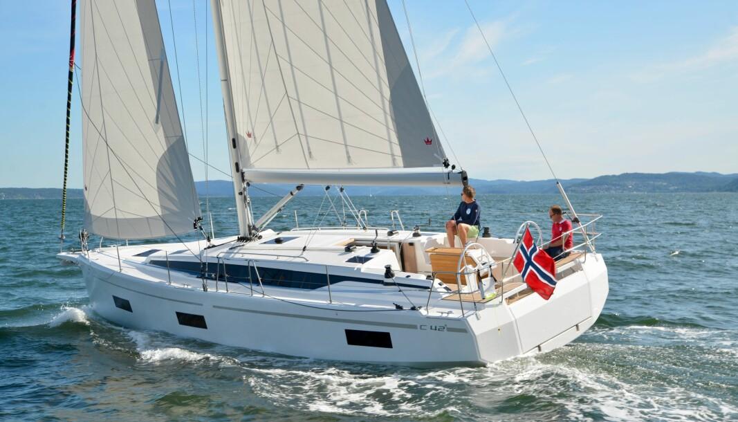 NY BÅT: Bavaria C42 er en av modellene Bavaria Båt Norge kan levere før neste sesong.