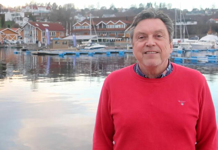 SATSER: Morten Gjeruldsen i Vollen Marina står for store utvidelser i Vollen til glede for båtfolket.