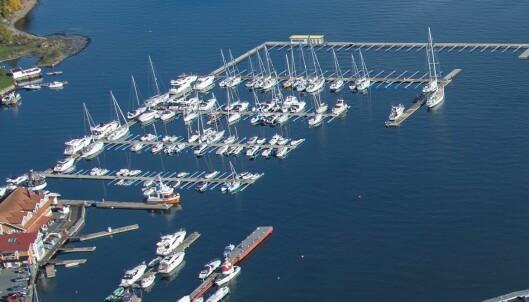 GJESTEBRYGGE: Marinaen i Vollen utvides med en diger brygge ytterst som vil både skape flere gjesteplasser, samt være en arena for events.
