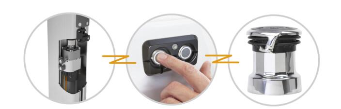 TRYKKNAPP: SEL-bus systemet koordinerer kreftene på rullesystemene slik at håndteringen foregår sikkert.