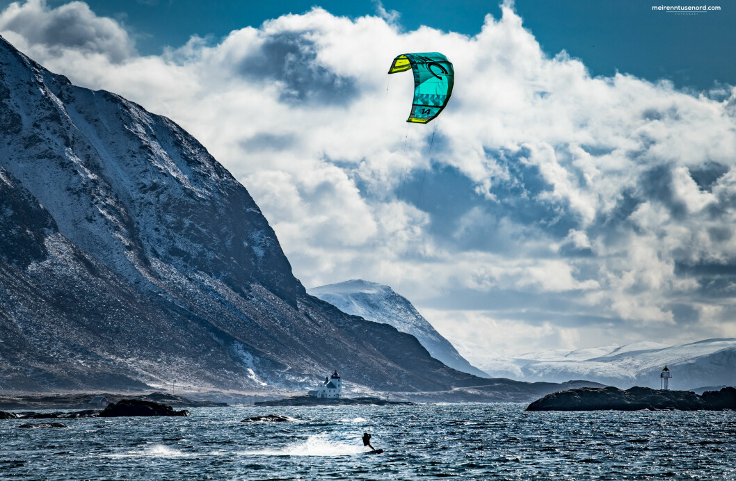 FULL FART: Kiting i Havlandet.