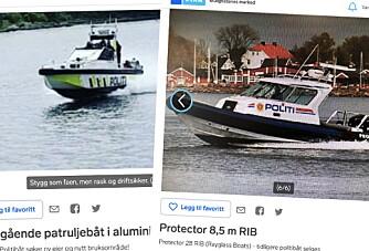 Nå kan du kjøpe en pensjonert politibåt - eller to